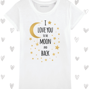 Tricou femei personalizat To the moon and back