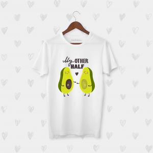 Tricou barbati personalizat My other half of avocado