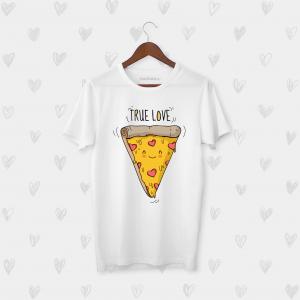 Tricou barbati personalizat True love pizza