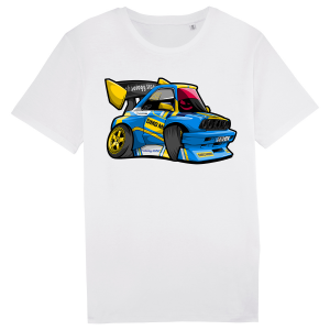 tricou personalizat evl motorsport 2018 alb