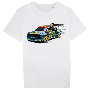 tricou personalizat evl motorsport 2019 alb